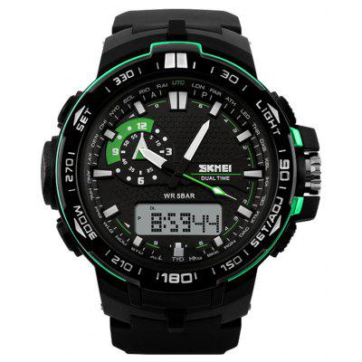 Buy GREEN SKMEI 1081 Fashion Japan Movement LED Sports Men Watch for $18.52 in GearBest store