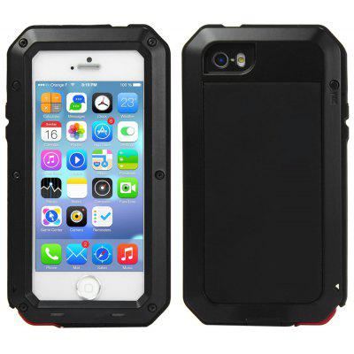 Metal Aluminum Case with Gorilla Glass Waterproof Shockproof Dustproof Full Angle Protected for iPhone 5S 5C 5 SE