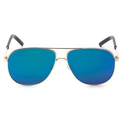 Buy Fashion Stainless Steel Rims Sunglasses for Men REFLECTIVE BLUE COLOR Apparel > Glasses > Stylish Sunglasses > Men's Sunglasses for $6.42 in GearBest store