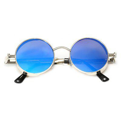 Punk Round Lens All-match Unisex Sunglasses