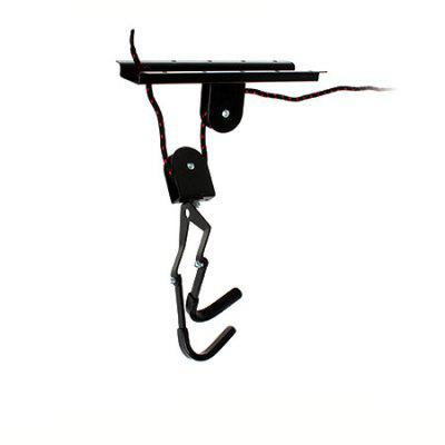 Bicycle Lift Hoist Hook Mounted Bike Wall Hanging Rack Set