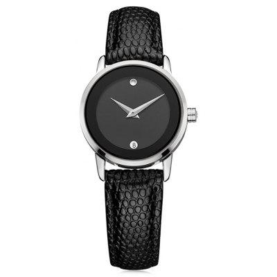 DOM 1075 Textura Leather Band Women Quartz Watch