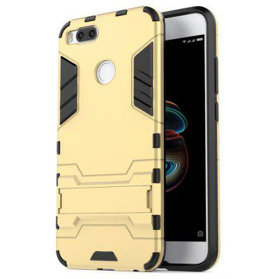 Buy GOLDEN Luanke Drop-proof Phone Stand Back Case for Xiaomi Mi 5X for $4.05 in GearBest store
