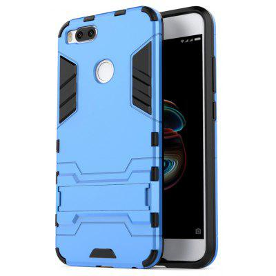 Buy BLUE Luanke Drop-proof Phone Stand Back Case for Xiaomi Mi 5X for $4.05 in GearBest store