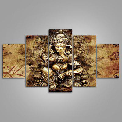 Buy COLORMIX 5PCS YSDAFEN Elephant Man Printed Painting Canvas Print for $55.37 in GearBest store
