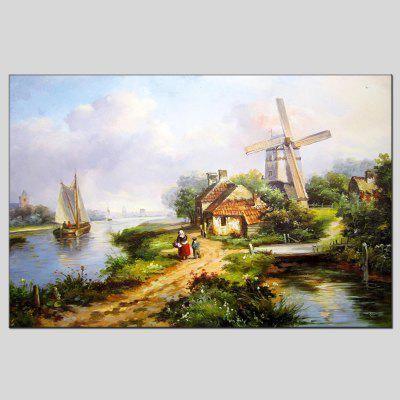 Buy COLORMIX Hua Tuo Modern Hand Painted Framed Landscape Oil Painting for $55.16 in GearBest store