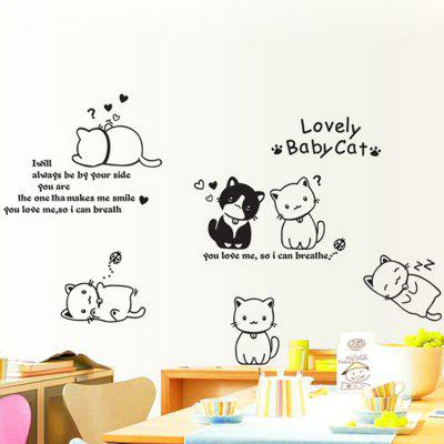 LAIMA Cute Cats Pattern Removable Sticker