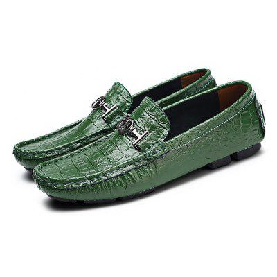 Buy BLACKISH GREEN Male Trendy Crocodile Soft Doug Casual Oxford Shoes for $33.99 in GearBest store