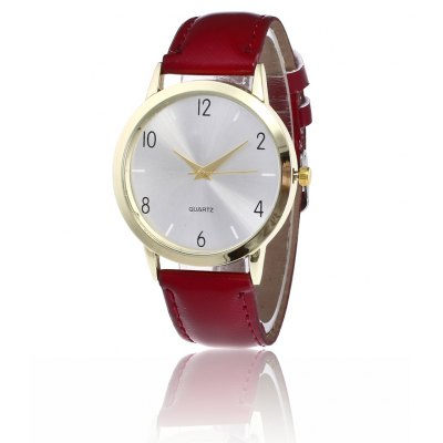 Simple PU Band Women Quartz Watch