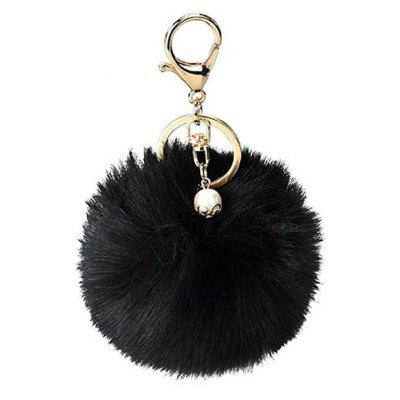 Buy BLACK Lovely Sphere Style Sunday Angora Yarns Key Chain for $2.36 in GearBest store