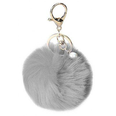 Buy GRAY Lovely Sphere Style Sunday Angora Yarns Key Chain for $2.36 in GearBest store