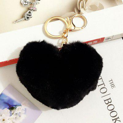 Lovely Heart Pattern Plush Key Chain