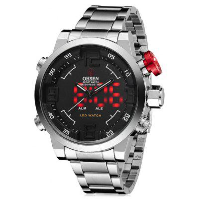 OHSEN AD1608 Trendy Steel Band Men Quartz Watch