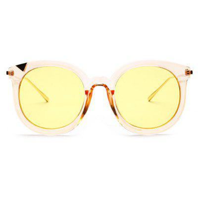 Buy YELLOW Cat Eye Round Lens Classic Western Unisex Sunglasses for $7.42 in GearBest store