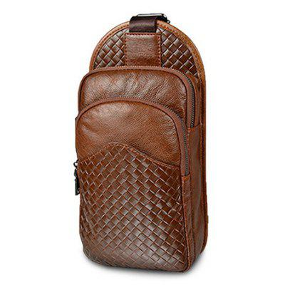 Buy CAMEL Men Durable Woven Genuine Leather Shoulder Bag for $45.20 in GearBest store