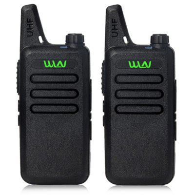 WLN 2PCS UHF 400 - 470MHz Mini Handheld Walkie Talkie