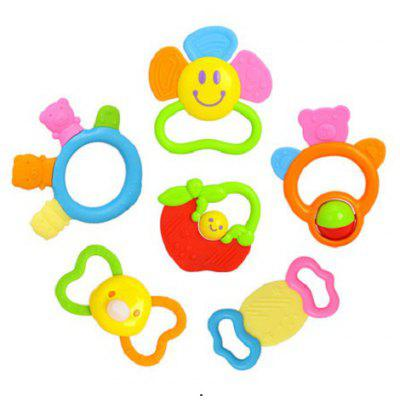 6pcs Creative Tooth Training Soft Gums for Baby