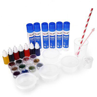 Creative Crystal Soil Paint Glue Slug DIY Toy 23pcs