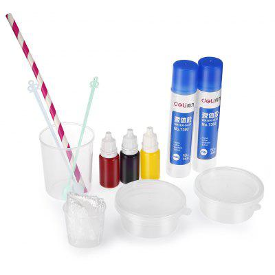 Creative Crystal Soil Paint Glue Slug DIY Toy 12pcs / set
