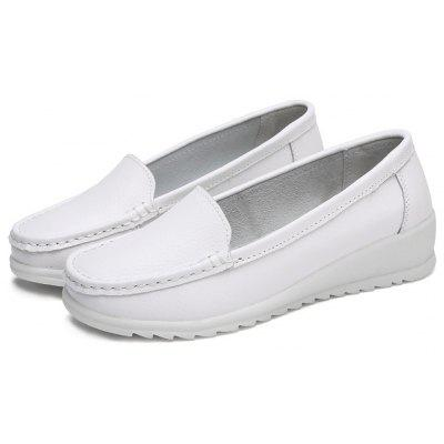 Female Soft Wedge-soled Loafer Casual Oxford Shoes