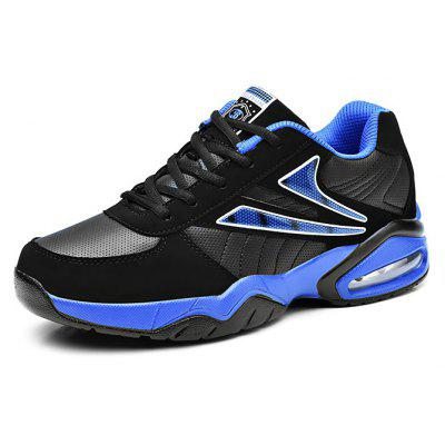 Male Breathable Shock Absorption Running Athletic ShoesAthletic Shoes<br>Male Breathable Shock Absorption Running Athletic Shoes<br><br>Closure Type: Lace-Up<br>Contents: 1 x Pair of Shoes, 1 x Box<br>Decoration: Split Joint<br>Materials: Microfiber, PU, Leather<br>Occasion: Sports, Shopping, Running, Outdoor Clothing, Holiday, Casual, Basketball, Riding<br>Outsole Material: PU<br>Package Size ( L x W x H ): 32.00 x 22.00 x 16.00 cm / 12.6 x 8.66 x 6.3 inches<br>Seasons: Autumn,Spring<br>Style: Leisure, Modern, Fashion, Comfortable, Casual<br>Toe Shape: Round Toe<br>Type: Sports Shoes<br>Upper Material: Leather,Microfiber