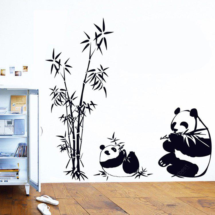 LAIMA Panda Bamboo Pattern Removable Sticker