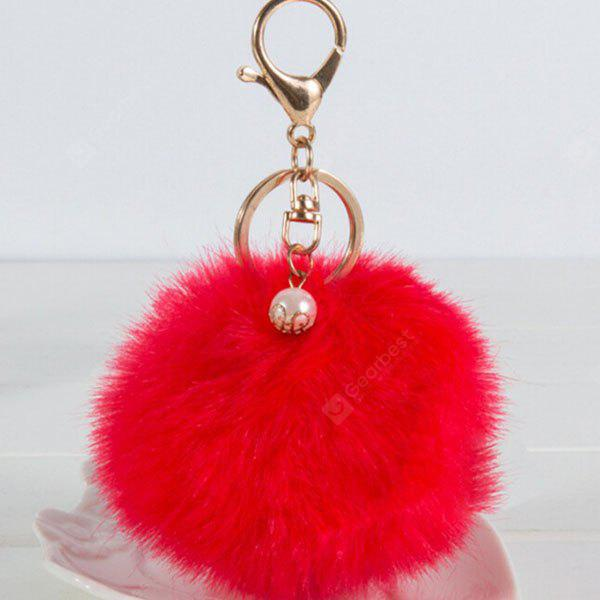 RED Lovely Sphere Style Sunday Angora Yarns Key Chain