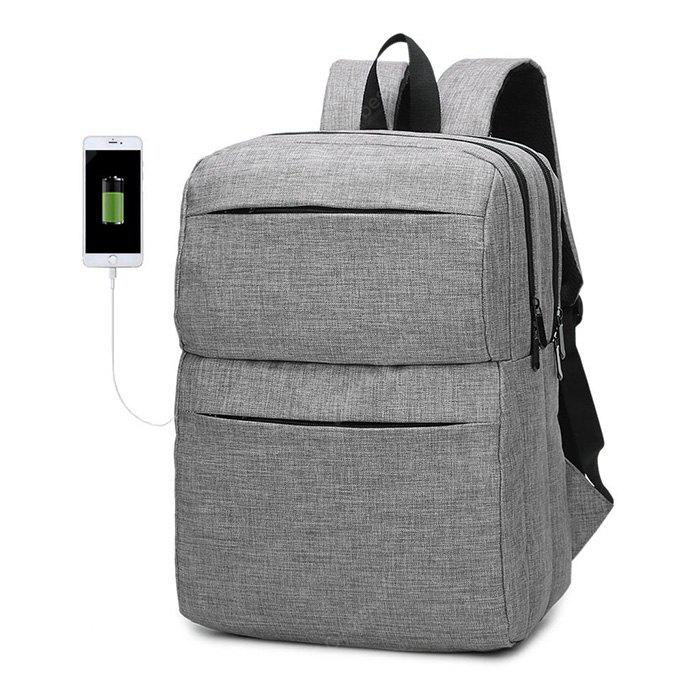 Men Chic Water-resistant Laptop Backpack with USB Port