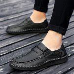 Bărbați Soft Elastic Band Decorative Casual Loafer Oxford Shoes - NEGRU