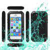 Metal Aluminum Case with Gorilla Glass Waterproof Shockproof Dustproof Full Angle Protected for iPhone 5S 5C 5 SE - BLACK