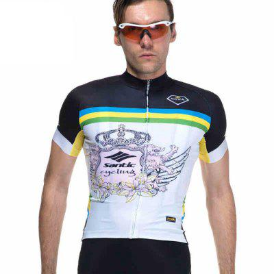 Santic Printing Male Cycling Short Sleeves