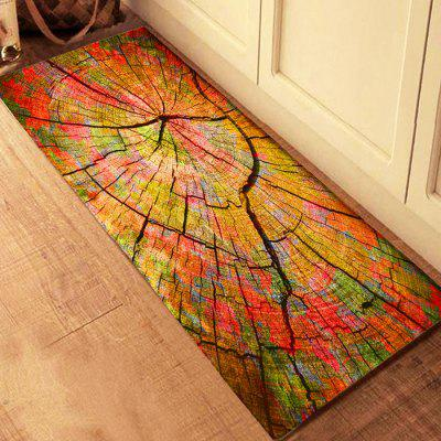 3D Printing Colorful Wood Grains Pattern Bath Mat Floor Carpet Non-Slip Area Rug