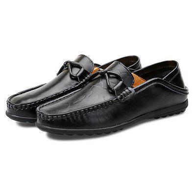 Buy BLACK 45 Male Stylish Soft Loafer Flat Casual Oxford Shoes for $38.03 in GearBest store