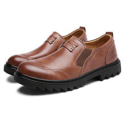 Buy DARK AUBURN Male Business Slinky Elastic Soft Casual Oxford Shoes for $46.31 in GearBest store