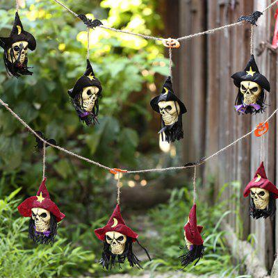 4pcs Halloween Ornaments Pendent Decoration for Home BarHalloween Supplies<br>4pcs Halloween Ornaments Pendent Decoration for Home Bar<br><br>Package Contents: 1 x String of Dolls<br>Package size (L x W x H): 50.00 x 30.00 x 20.00 cm / 19.69 x 11.81 x 7.87 inches<br>Package weight: 0.0900 kg<br>Product size (L x W x H): 32.00 x 1.50 x 1.50 cm / 12.6 x 0.59 x 0.59 inches<br>Product weight: 0.0740 kg<br>Usage: Halloween, Party, Performance, Stage