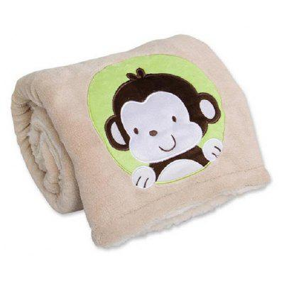 Monkey Pattern Warm Soft Blanket Home Use