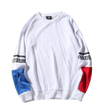 Buy WHITE Fashion Loose Long Sleeves Hoodie for Men for $22.35 in GearBest store