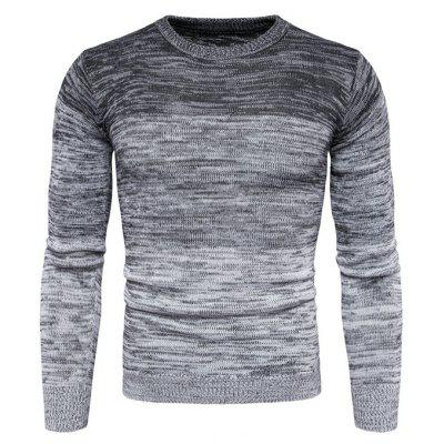 Buy GRAY Stylish Round Neck Long Sleeves Sweater for Men for $27.00 in GearBest store