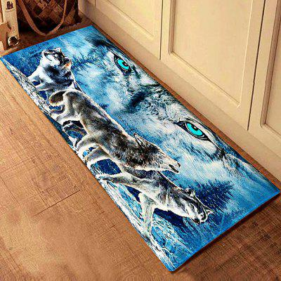 3D Printing Wolves Pattern Bath Mat Floor Carpet Non-Slip Area Rug