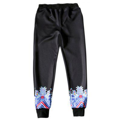 Buy BLACK Fashion Unique Printing Pants for $21.53 in GearBest store