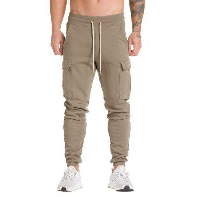 Buy KHAKI Men Comfortable Cotton Joggers for $17.16 in GearBest store