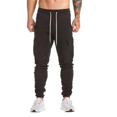 Buy BLACK Men Comfortable Cotton Joggers for $17.16 in GearBest store