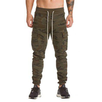 Buy ACU CAMOUFLAGE Men Comfortable Cotton Joggers for $17.16 in GearBest store