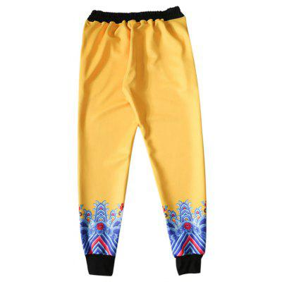 Buy YELLOW Fashion Unique Printing Pants for $21.53 in GearBest store