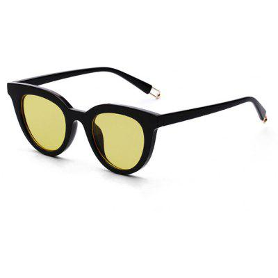 Buy YELLOW Chic Unisex Cat Eye Fashion Anti UV Sunglasses for $5.78 in GearBest store