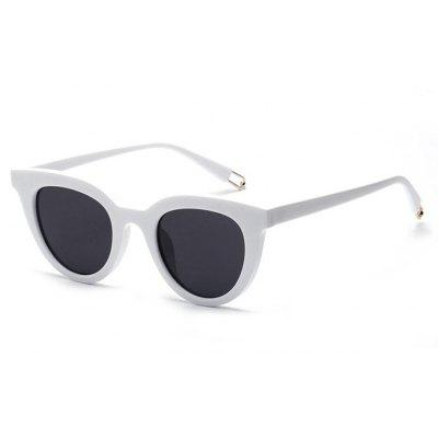 Buy WHITE Chic Unisex Cat Eye Fashion Anti UV Sunglasses for $5.78 in GearBest store