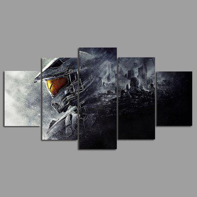 Buy COLORMIX 5PCS YSDAFEN Warrior Printed Painting Canvas Print for $55.37 in GearBest store