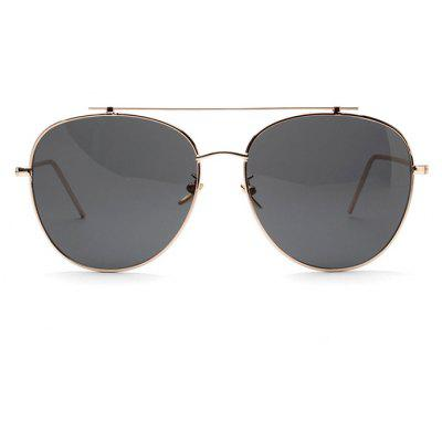Neutral Double Beam Western Style Sunglasses