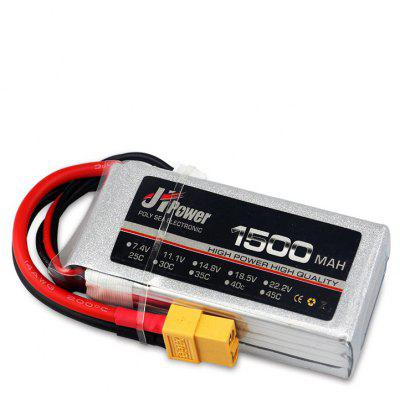 JHPOWER 7.4V 1500mAh 25C LiPo Battery with XT60 Plug