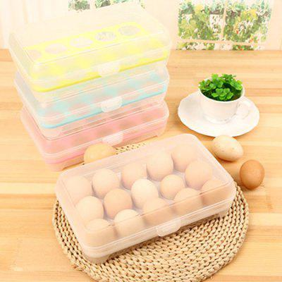 1PC Portable Shatter-proof Egg Tray Holder Container Stackable Storage Organizer with Lid for 15 Eggs